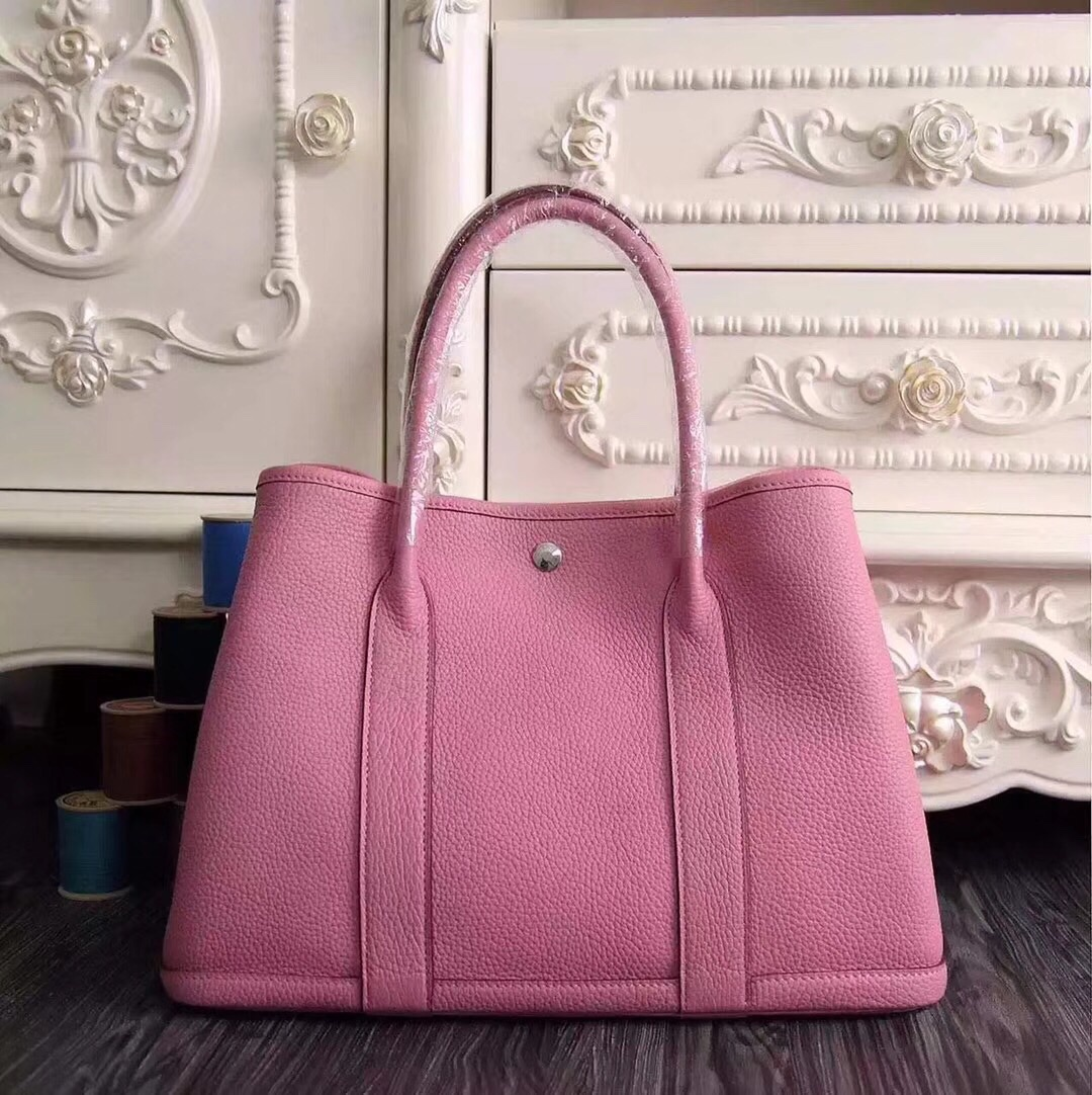 Hermes Garden Party 30 Bag H1689 Pink