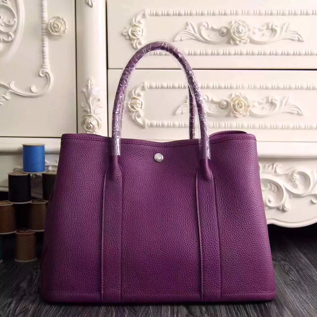 Hermes Garden Party 30 Bag H1689 Purple