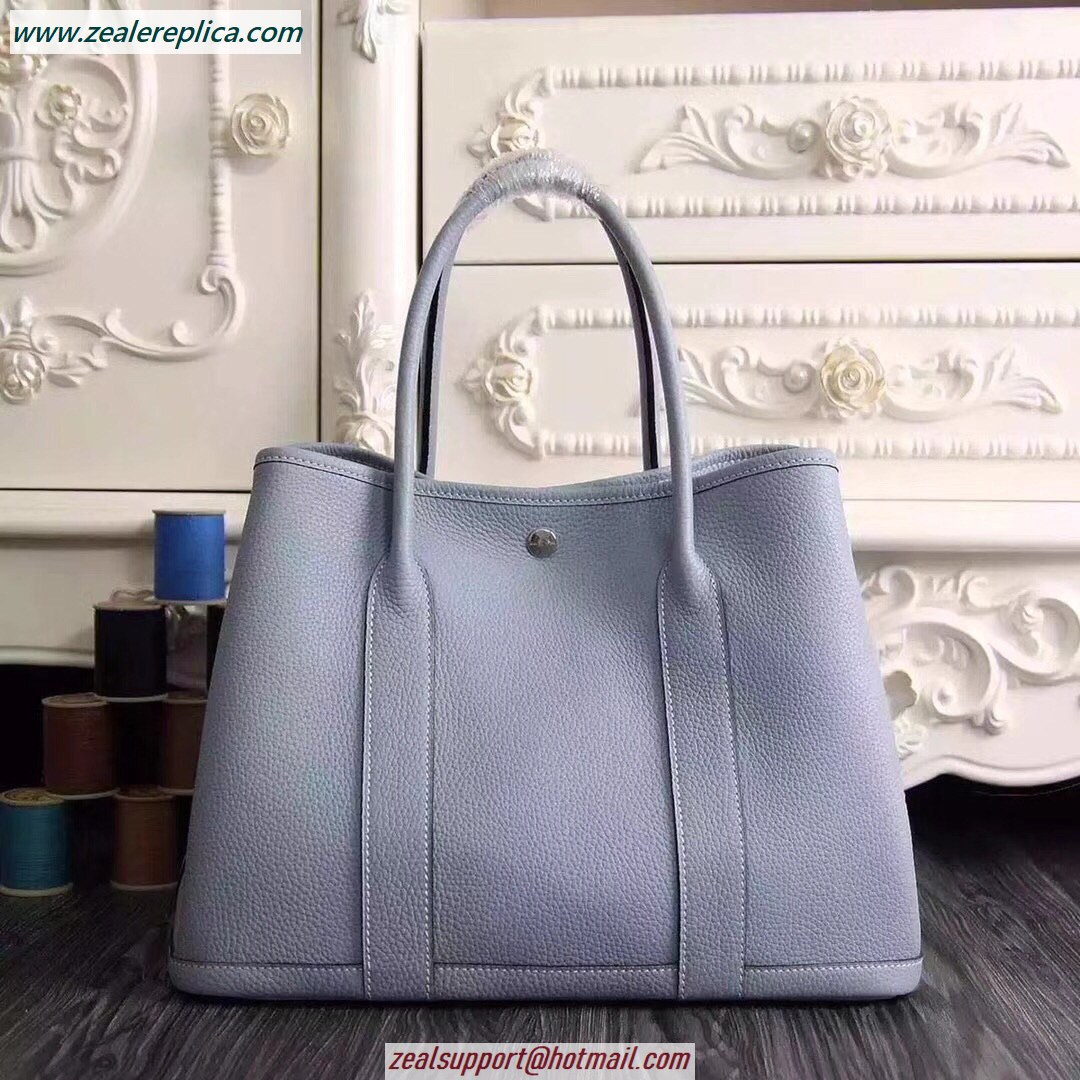 Hermes Garden Party 30 Bag H1689 Light Blue