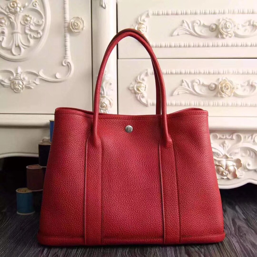 Hermes Garden Party 30 Bag H1689 Red