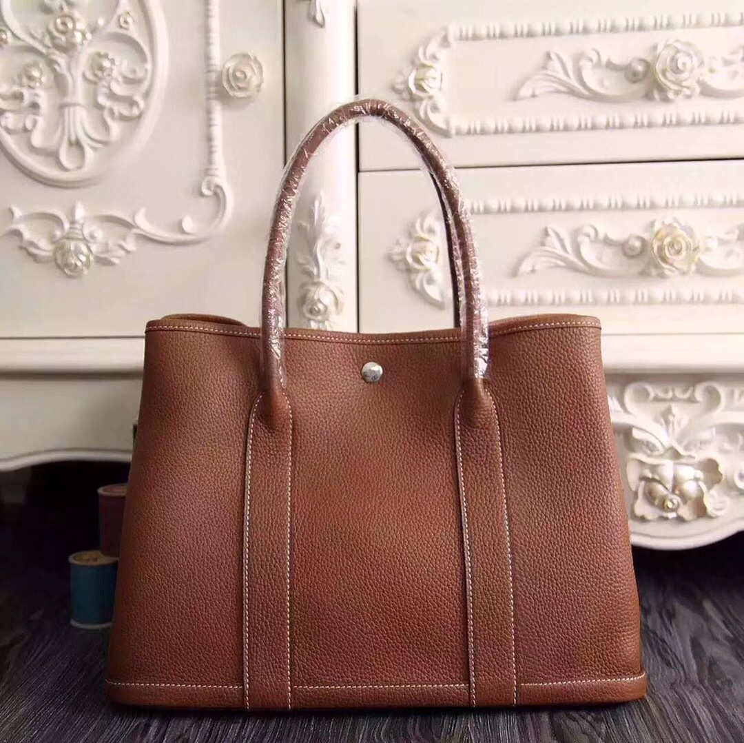 Hermes Garden Party 30 Bag H1689 Camel