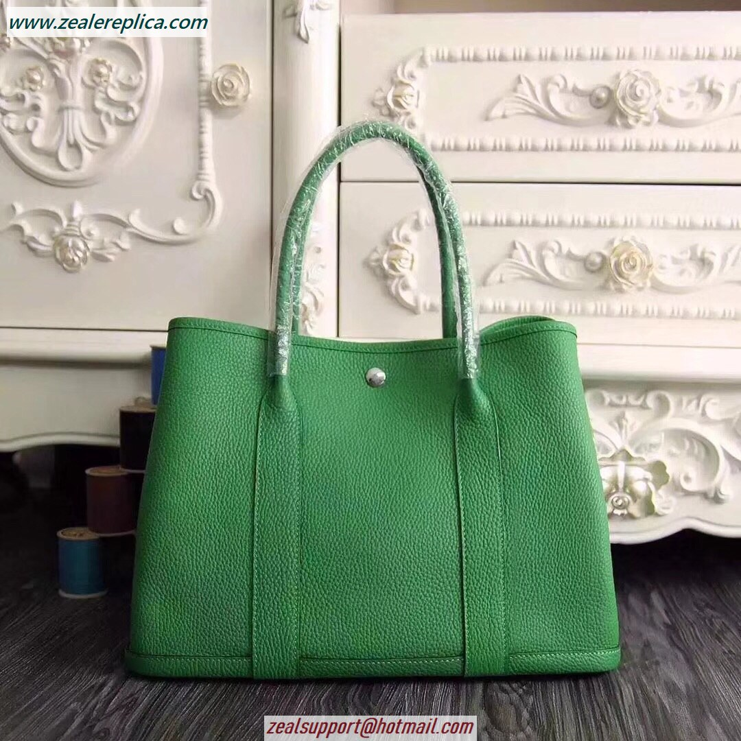 Hermes Garden Party 30 Bag H1689 Bamboo Green