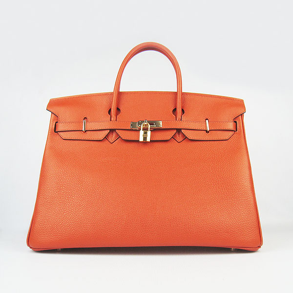 Hermes Birkin 40CM Golden Hardware Togo Bag 6099 Orange