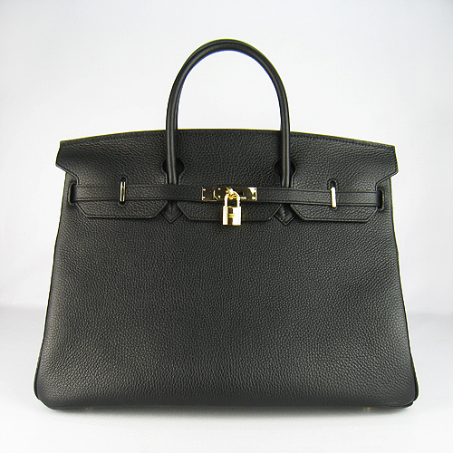 Hermes Birkin 40CM Golden Hardware Togo Bag 6099 Black