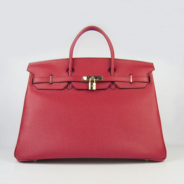 Hermes Birkin 40CM Golden Hardware Togo Bag 6099 Red