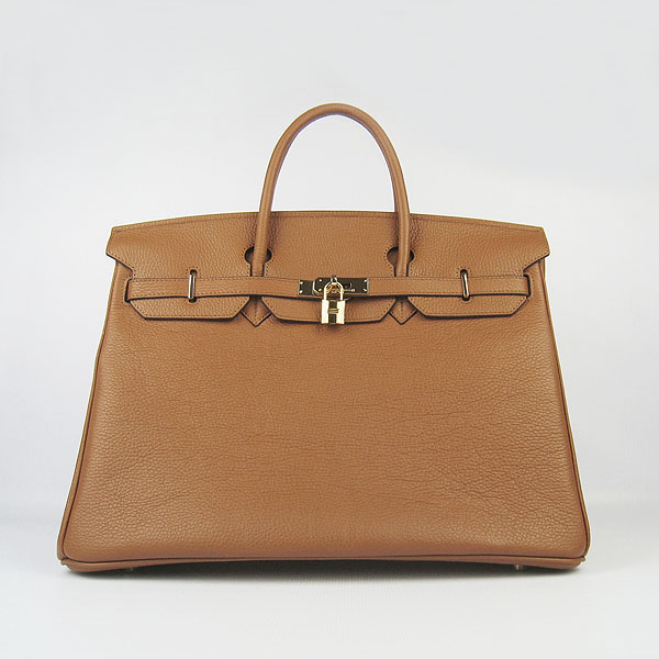Hermes Birkin 40CM Golden Hardware Togo Bag 6099 Light Coffee