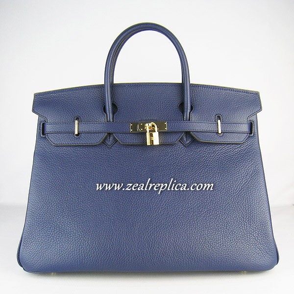 Hermes Birkin 40CM Golden Hardware Togo Bag 6099 Darkblue