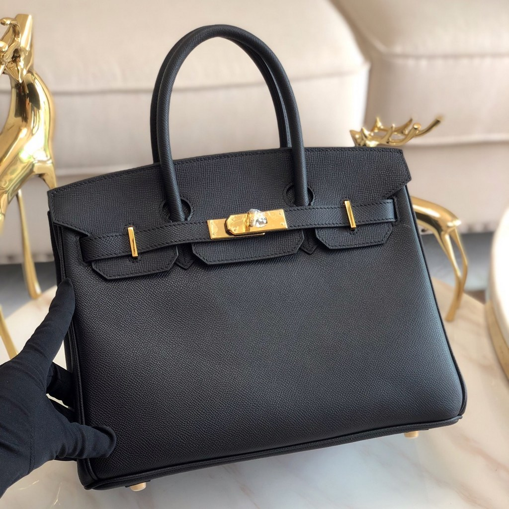 Hermes Birkin 30 Epsom Leather Bag H6088A Black(Gold Hardware)