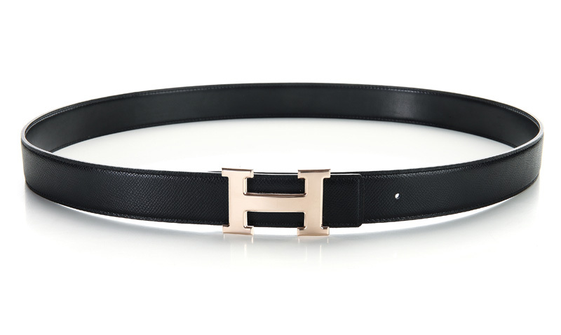 Hermes Palmprint Leather Belt H0356-1 Black