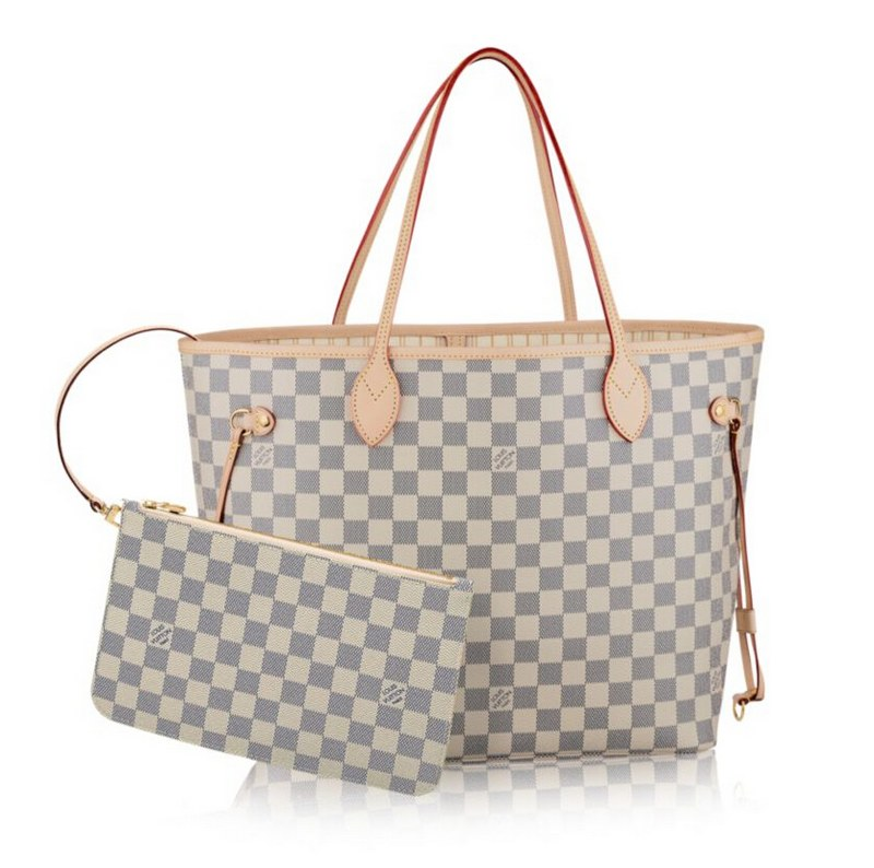 Louis Vuitton Damier Azur Canvas Neverfull MM N41361