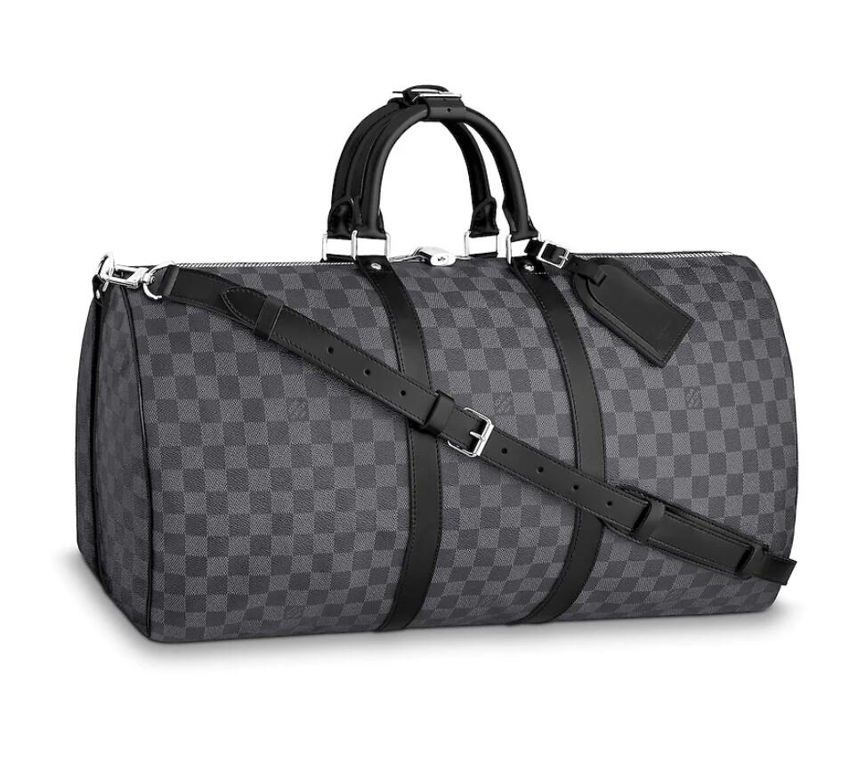 Louis Vuitton Damier Graphite Canvas Keepall 55 With Shoulder Strap N41413