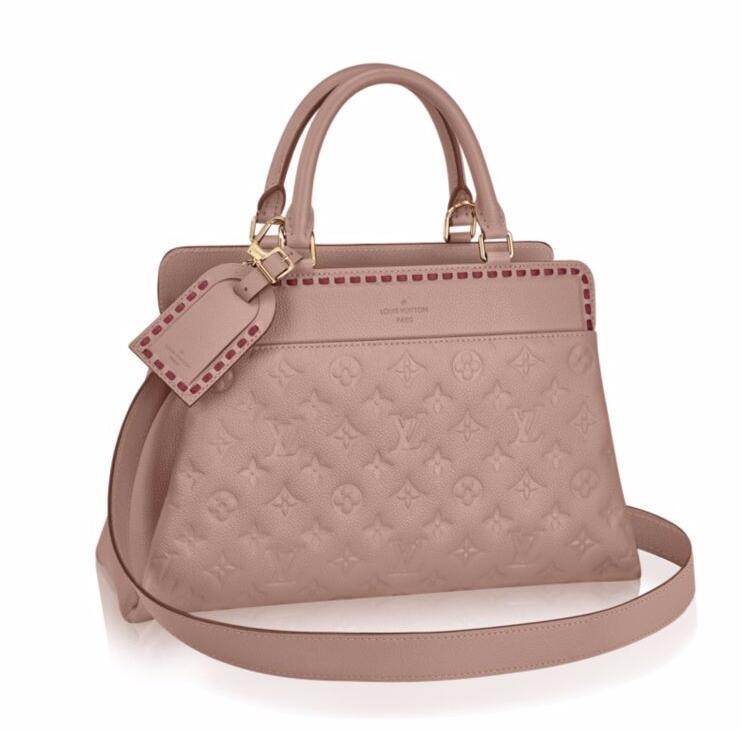 Louis Vuitton Monogram Empreinte Vosges MM M43739 Taupe Glace