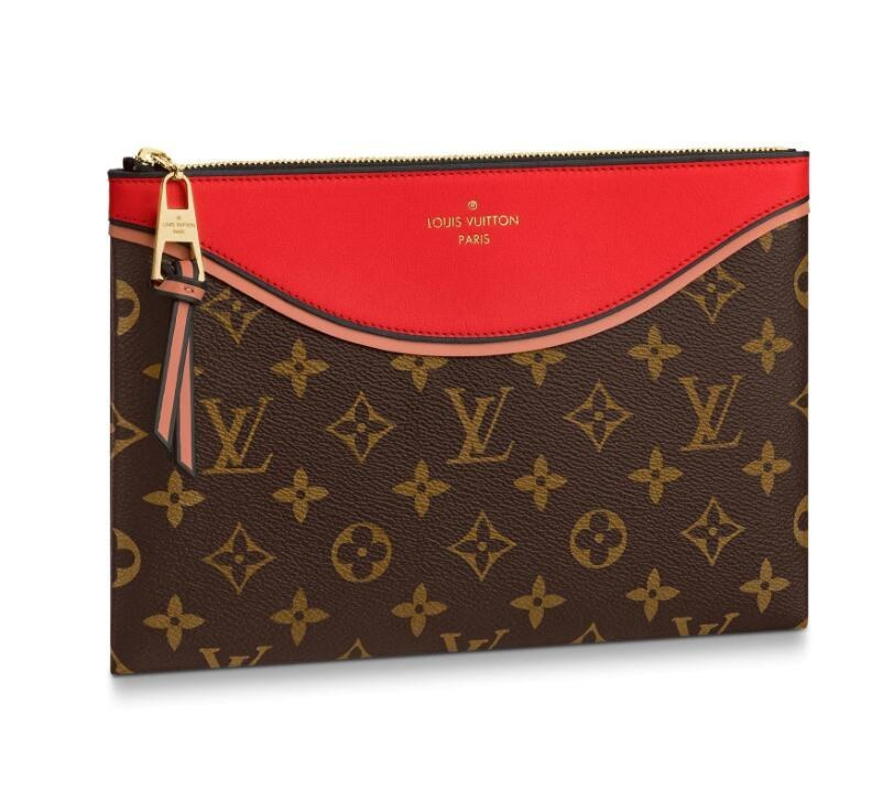 Louis Vuitton Monogram Canvas Pochette Tuileries M63903 Red