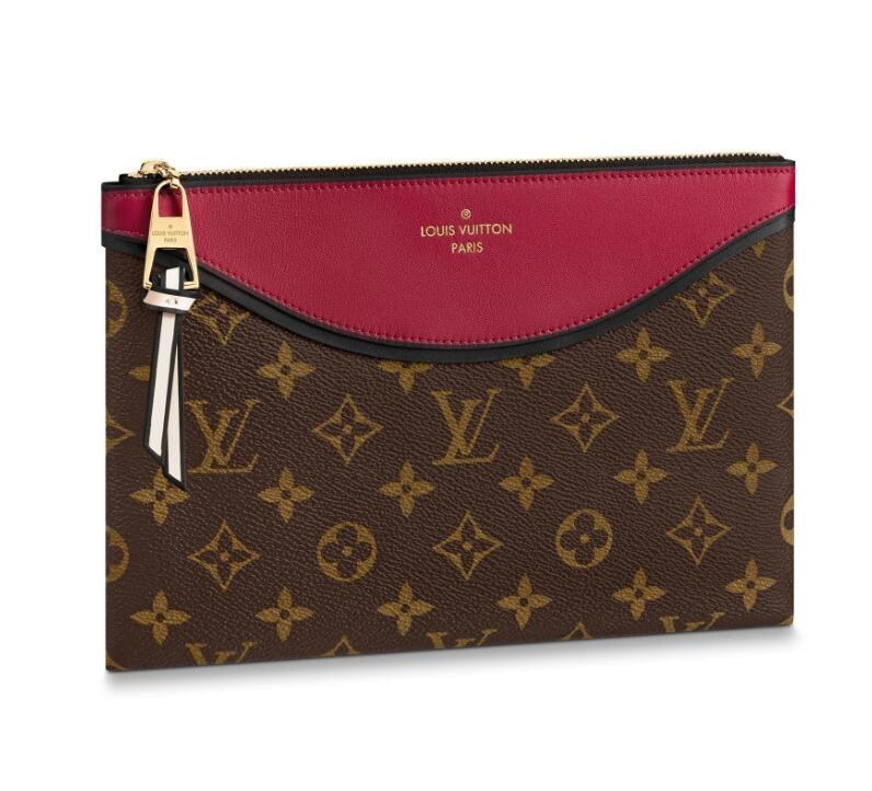Louis Vuitton Monogram Canvas Pochette Tuileries M63936 Bordeaux