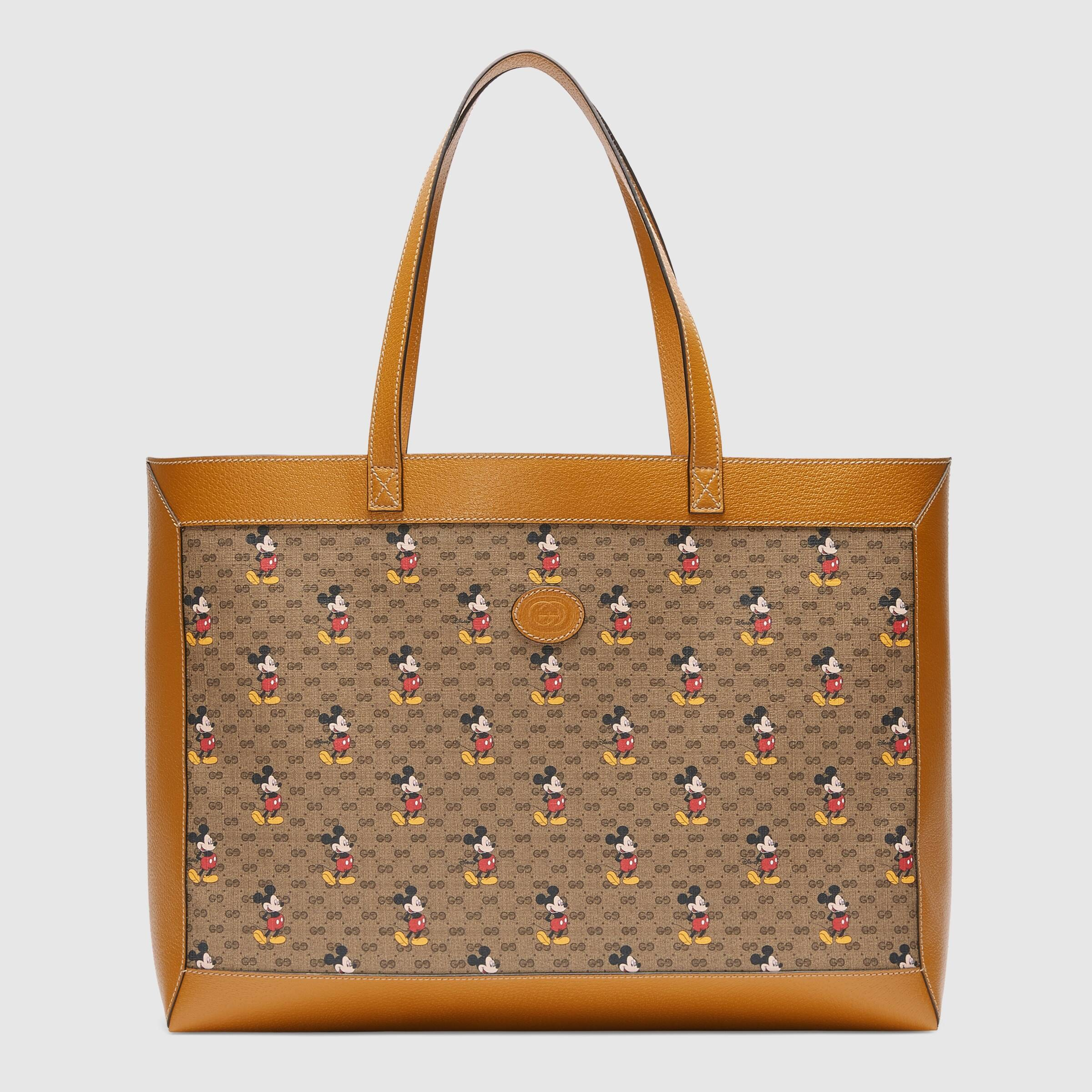 Gucci Disney x Gucci Medium Tote 547947 Light Brown Leather