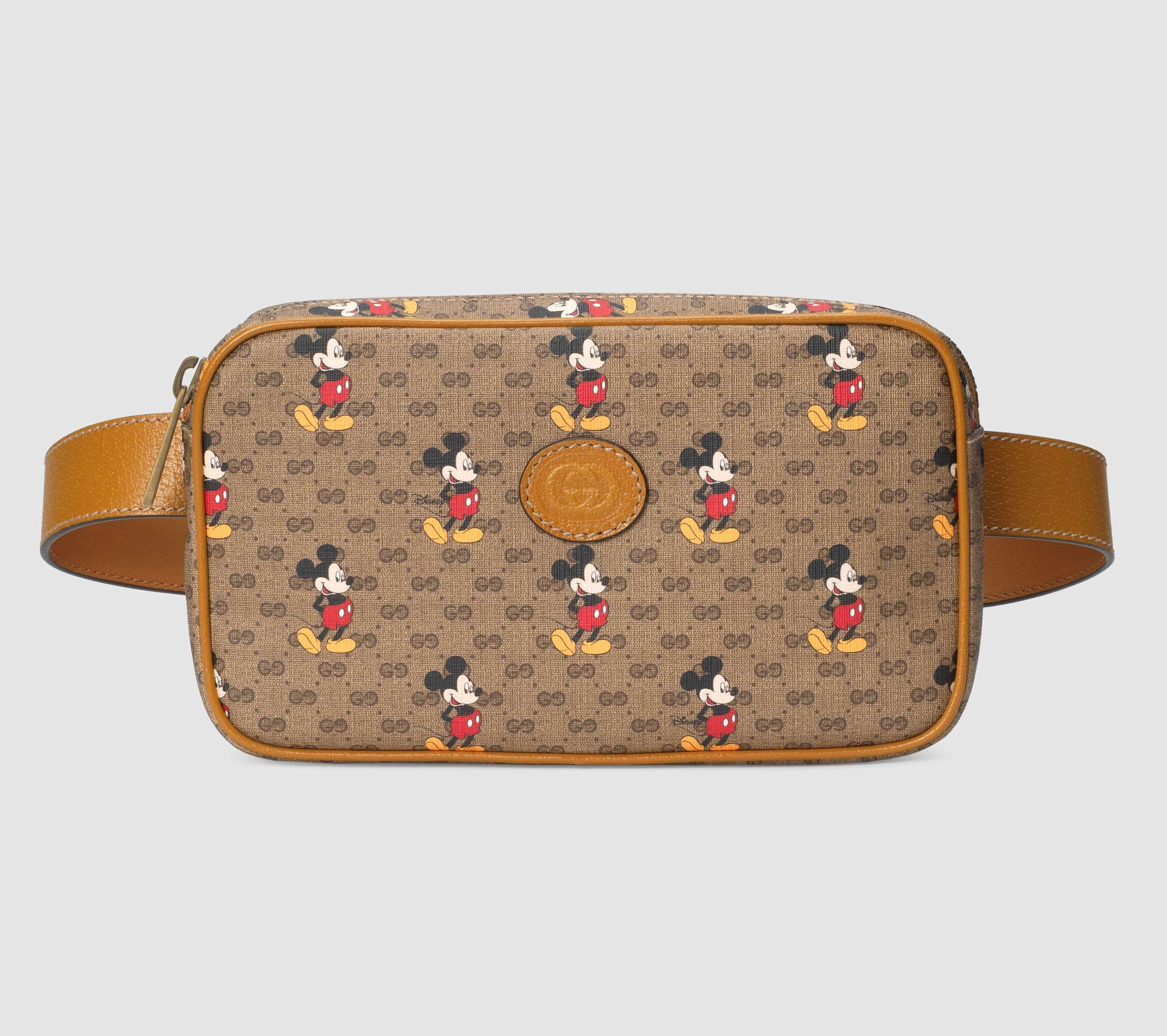 Gucci Disney X Gucci Belt Bag 602695 Light Brown Leather