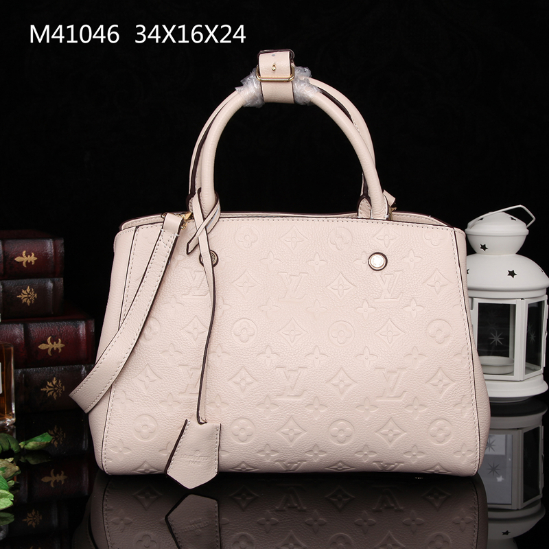 Louis Vuitton Monogram Empreinte Montaigne MM M41046 Cream