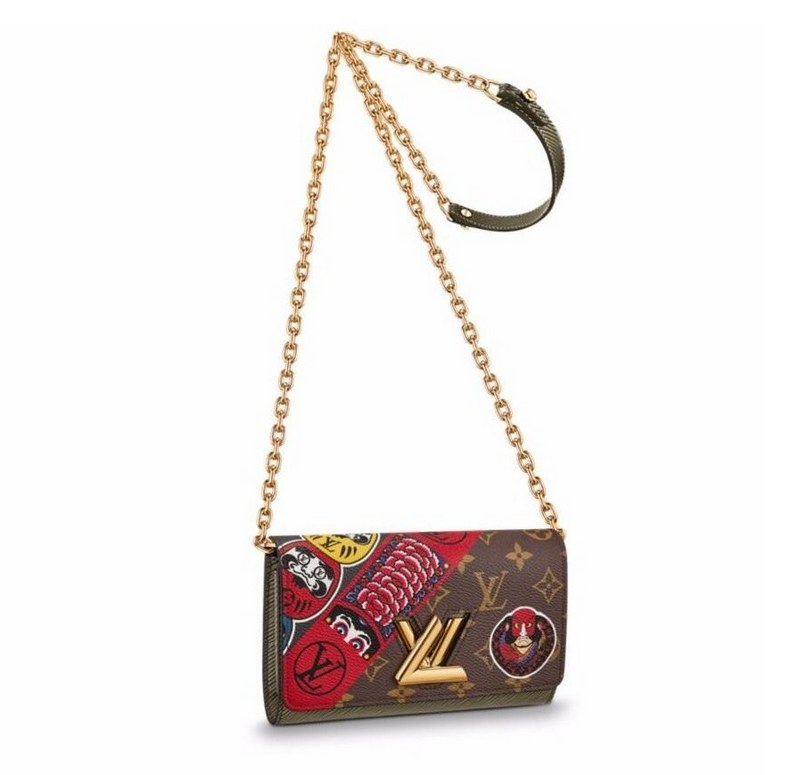 Louis Vuitton Monogram Canvas Twist Chain Wallet M67270