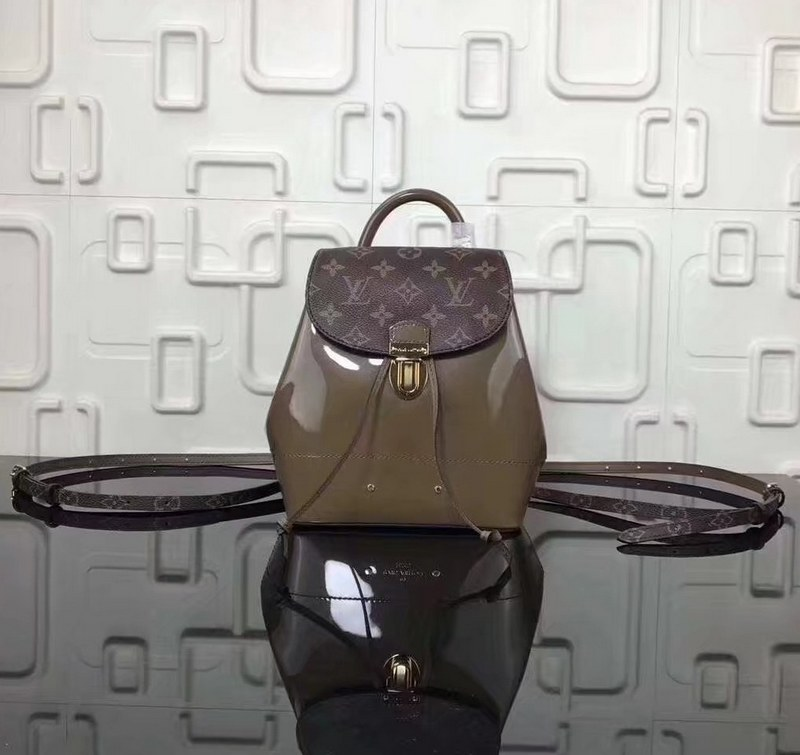 1c179008c0ec ... Louis Vuitton Patent Leather Hot Springs Backpack M54389 Vert Bronze ...