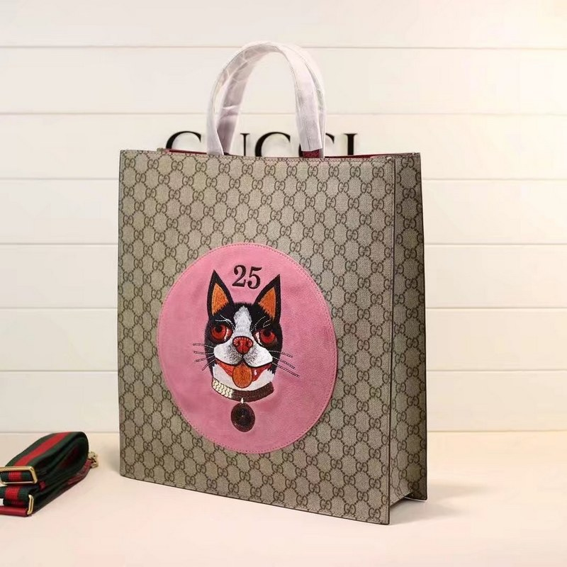 7e85fcc5e513 Gucci GG Supreme Bosco Tote 450950 Red Leather [450950 Red] - $179 ...
