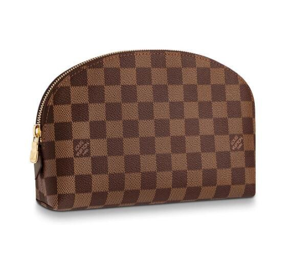 Louis Vuitton Damier Ebene Canvas Cosmetic Pouch GM N23345