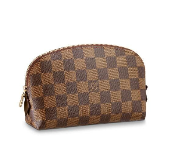 Louis Vuitton Damier Ebene Canvas Cosmetic Pouch N47516