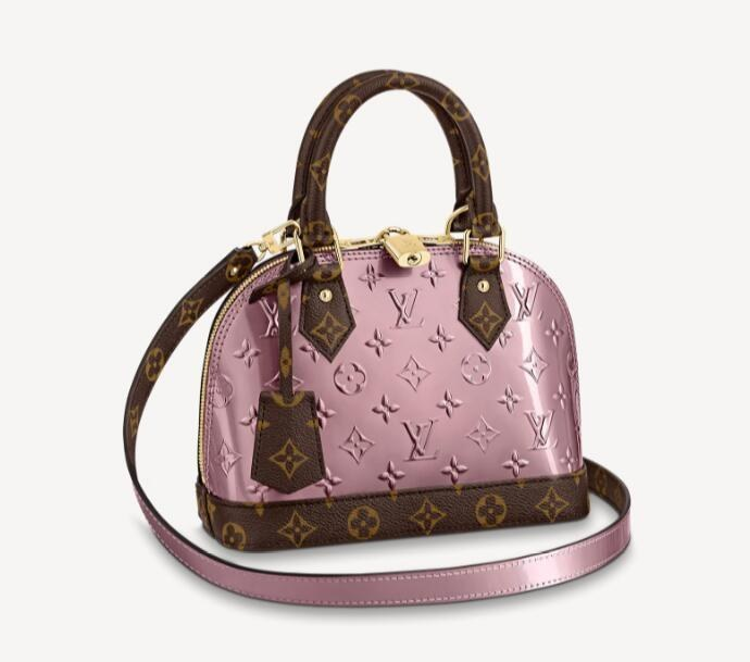 Louis Vuitton Alma BB M90583 Metallic Pale Pink