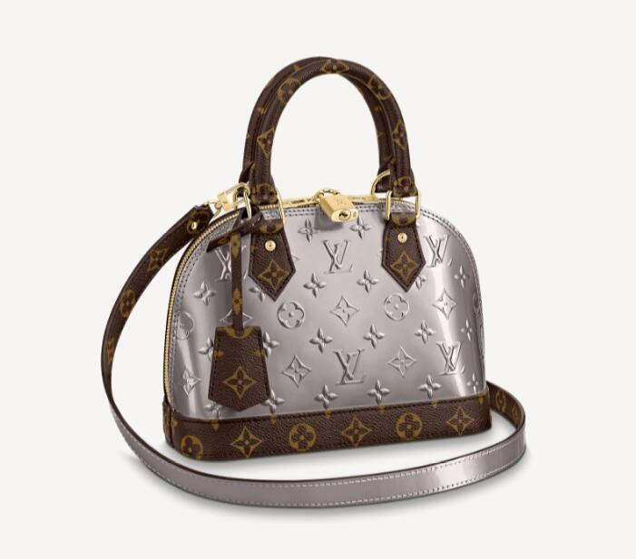 Louis Vuitton Alma BB M90584 Metallic Taupe Grey