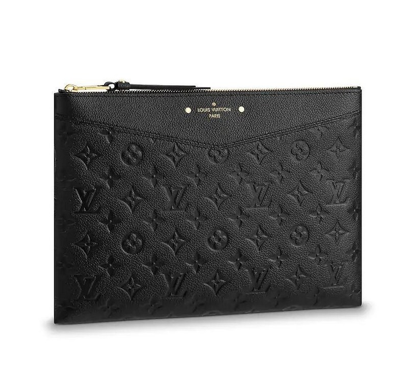 Louis Vuitton Monogram Empreinte Daily Pouch M62937 Noir