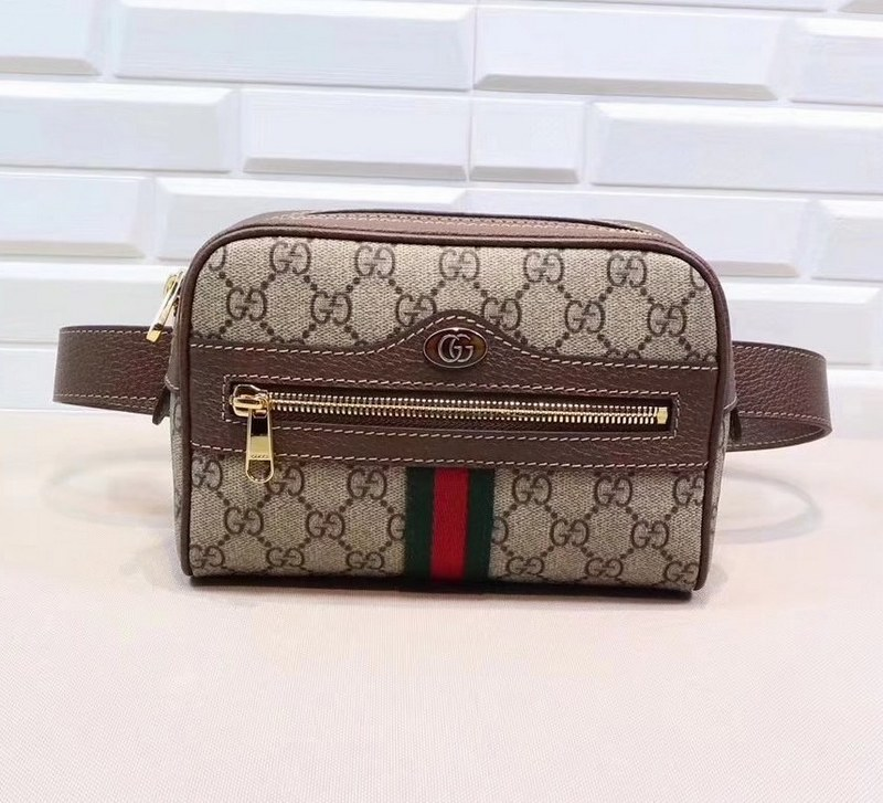 c7cffa050bf Gucci Ophidia GG Supreme Small Belt bag 517076 Brown Leather  517076 ...
