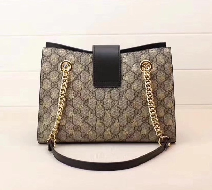 7e17ef181bd2 Gucci Padlock Small Gg Bees Shoulder Bag 498156 Coffee | Stanford ...