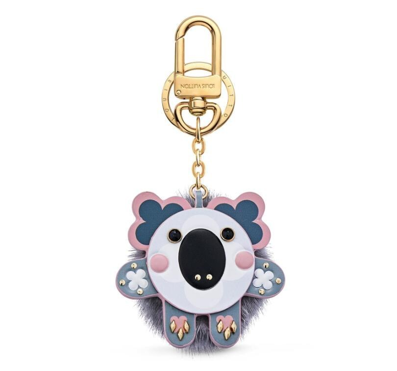 Louis Vuitton Wild Fur Koala Bag Charm and Key Holder M64258