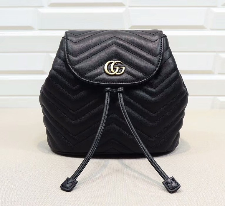 Gucci GG Marmont Matelasse Backpack 528129 Black