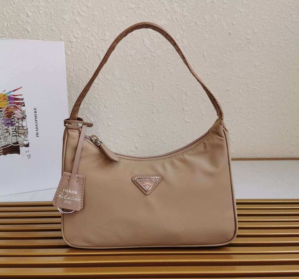 Prada Re-Edition 2005 Nylon Mini Bag 1NE515 Apricot