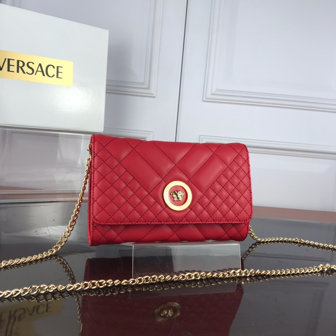 Versace Quilted Medusa Evening Bag DBSG377 Red