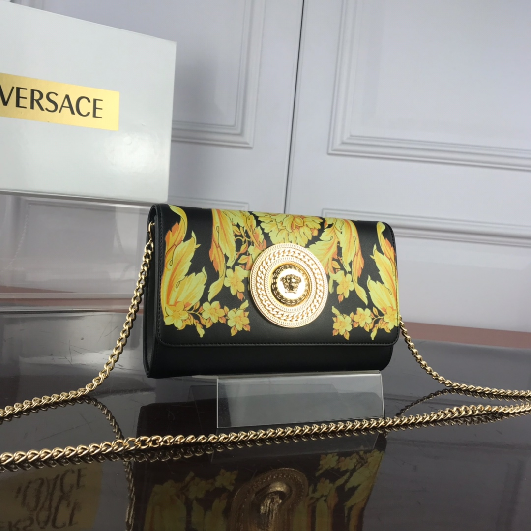 Versace Barocco SS'92 Evening Bag DBSG377 Black