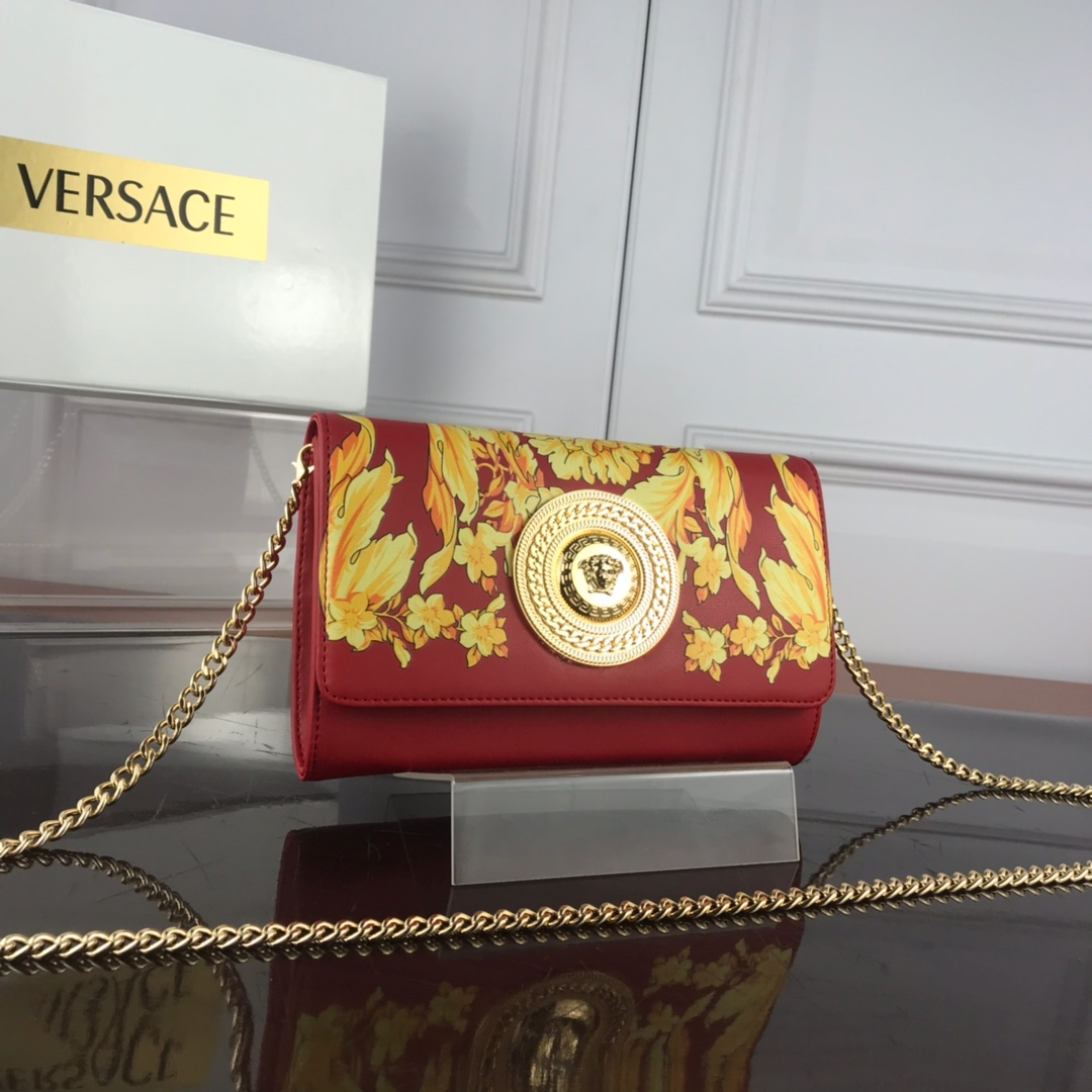 Versace Barocco SS'92 Evening Bag DBSG377 Red