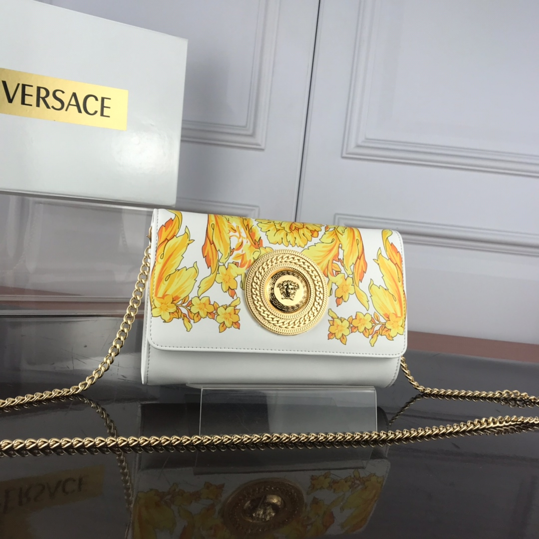 Versace Barocco SS'92 Evening Bag DBSG377 White