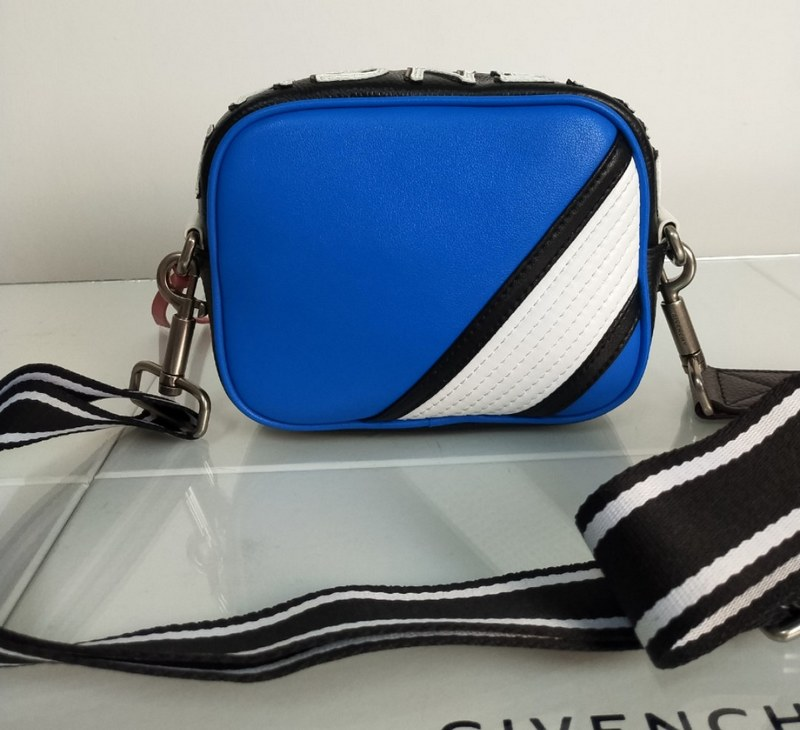 Givenchy Calf Leather Crossbody Bag BB509GB Blue