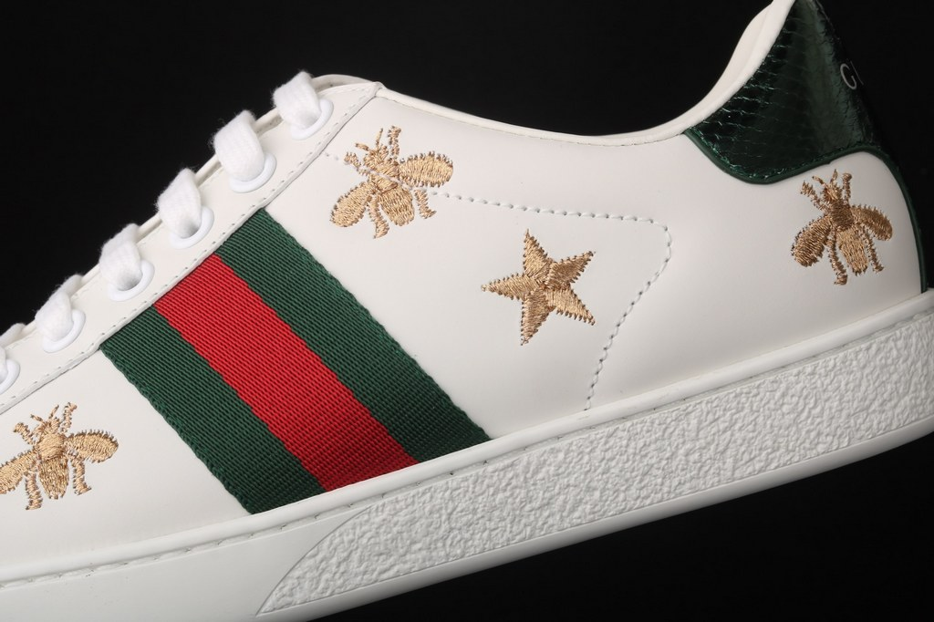 Gucci Ace Embroidered Sneaker 386750 Black