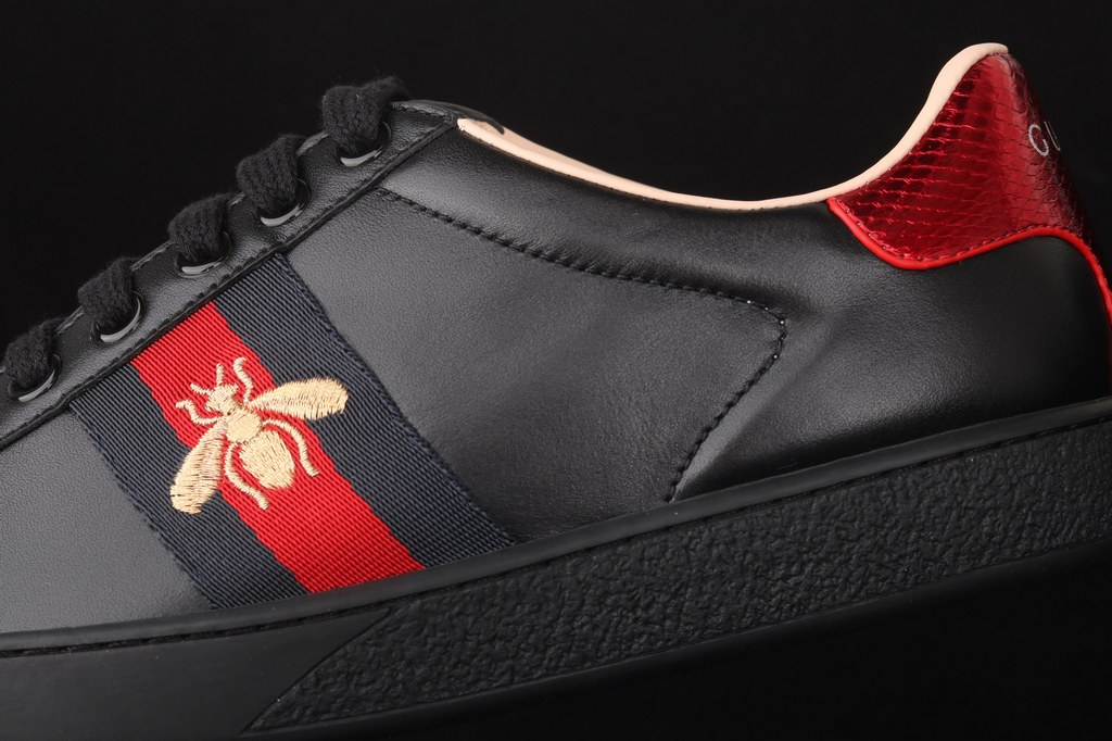 Gucci Ace Embroidered Sneaker 429446 Black
