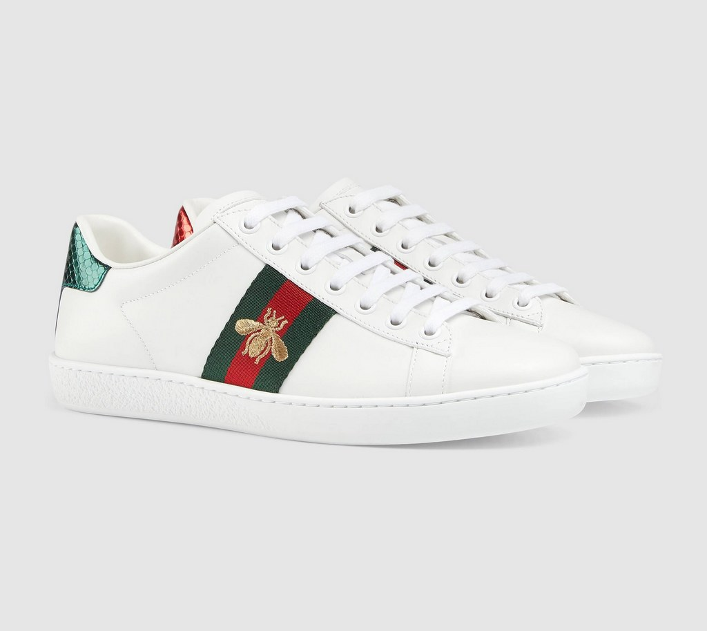 Gucci Ace Embroidered Sneaker 431942 White