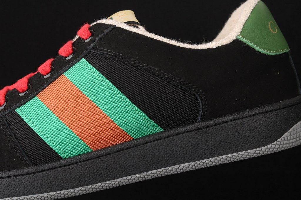 Gucci Screener Suede Sneaker ‎576223 Black