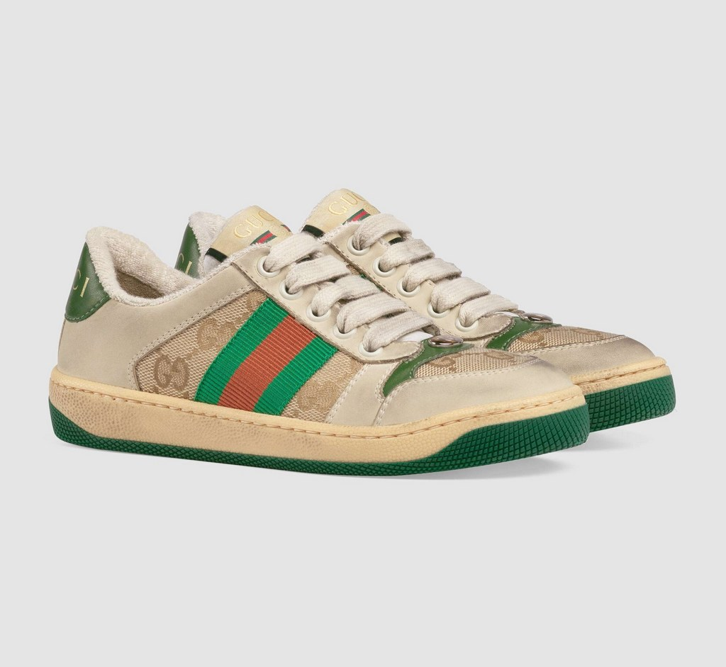 Gucci Screener Sneaker 626620 Butter leather