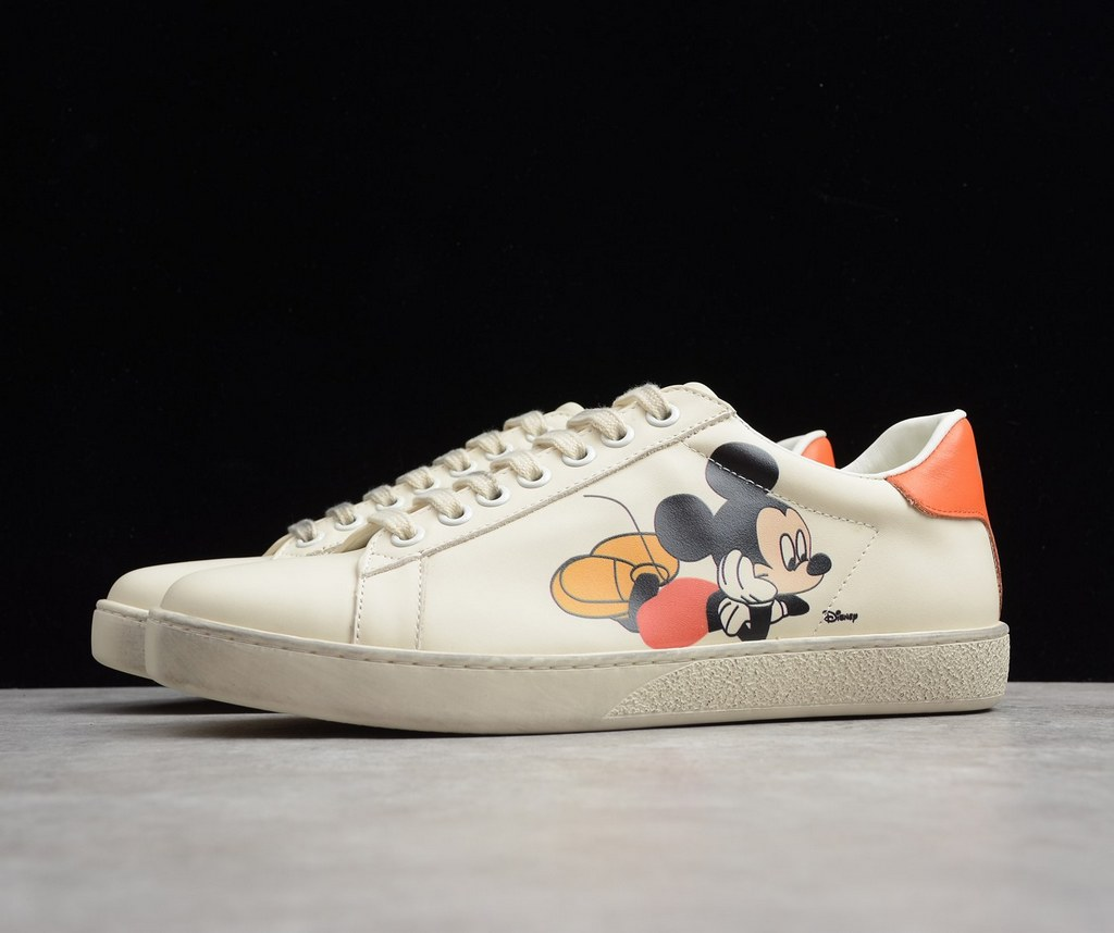 Gucci Disney X Gucci Ace Sneaker ‎603697 Ivory Leather
