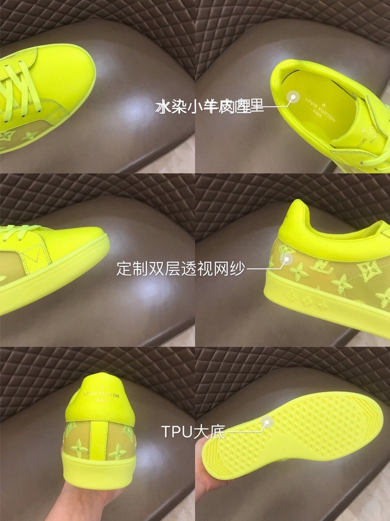 Louis Vuitton Luxembourg Sneaker 1A5S90 Yellow