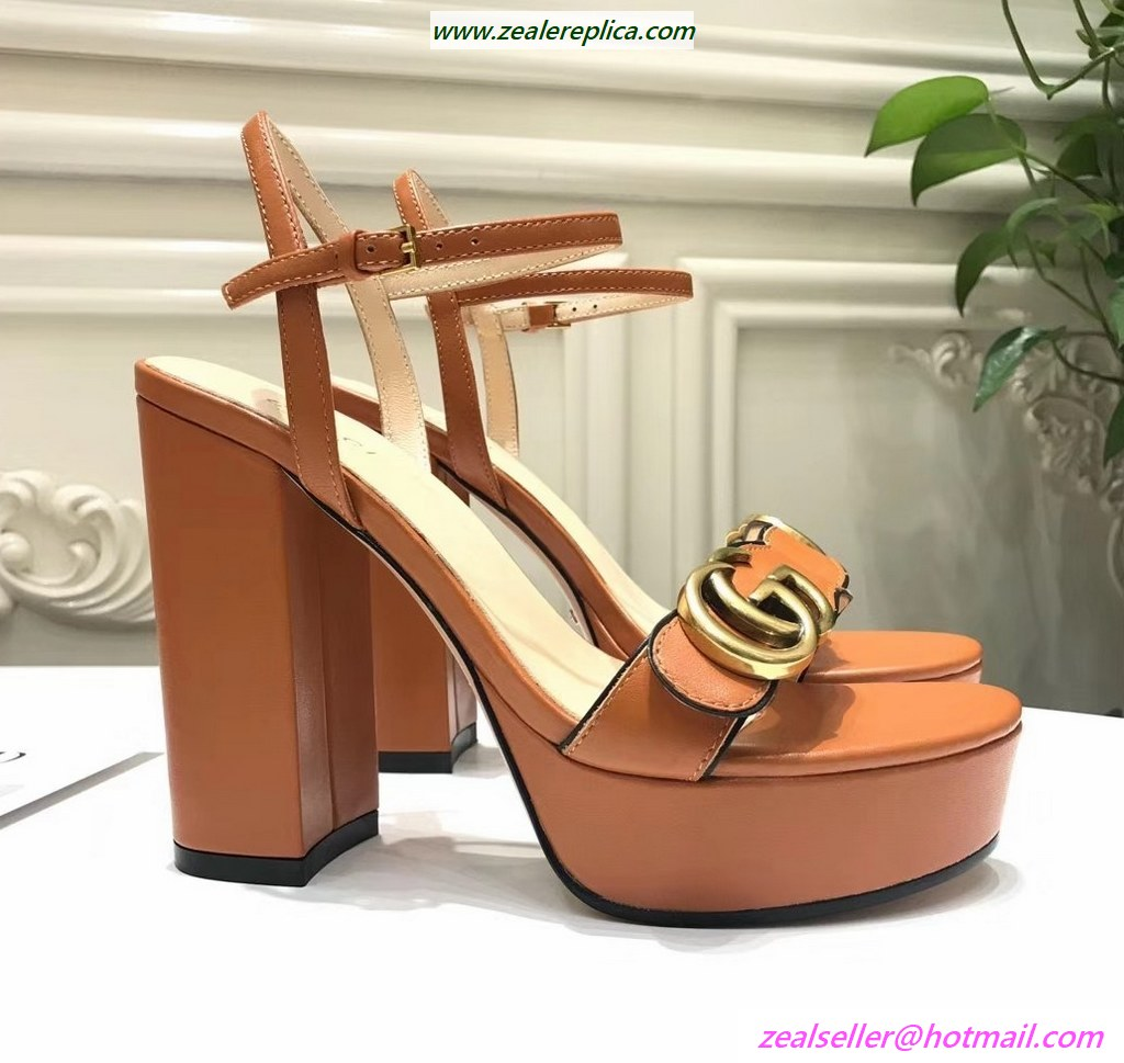 Gucci Sandals 453368 Brown