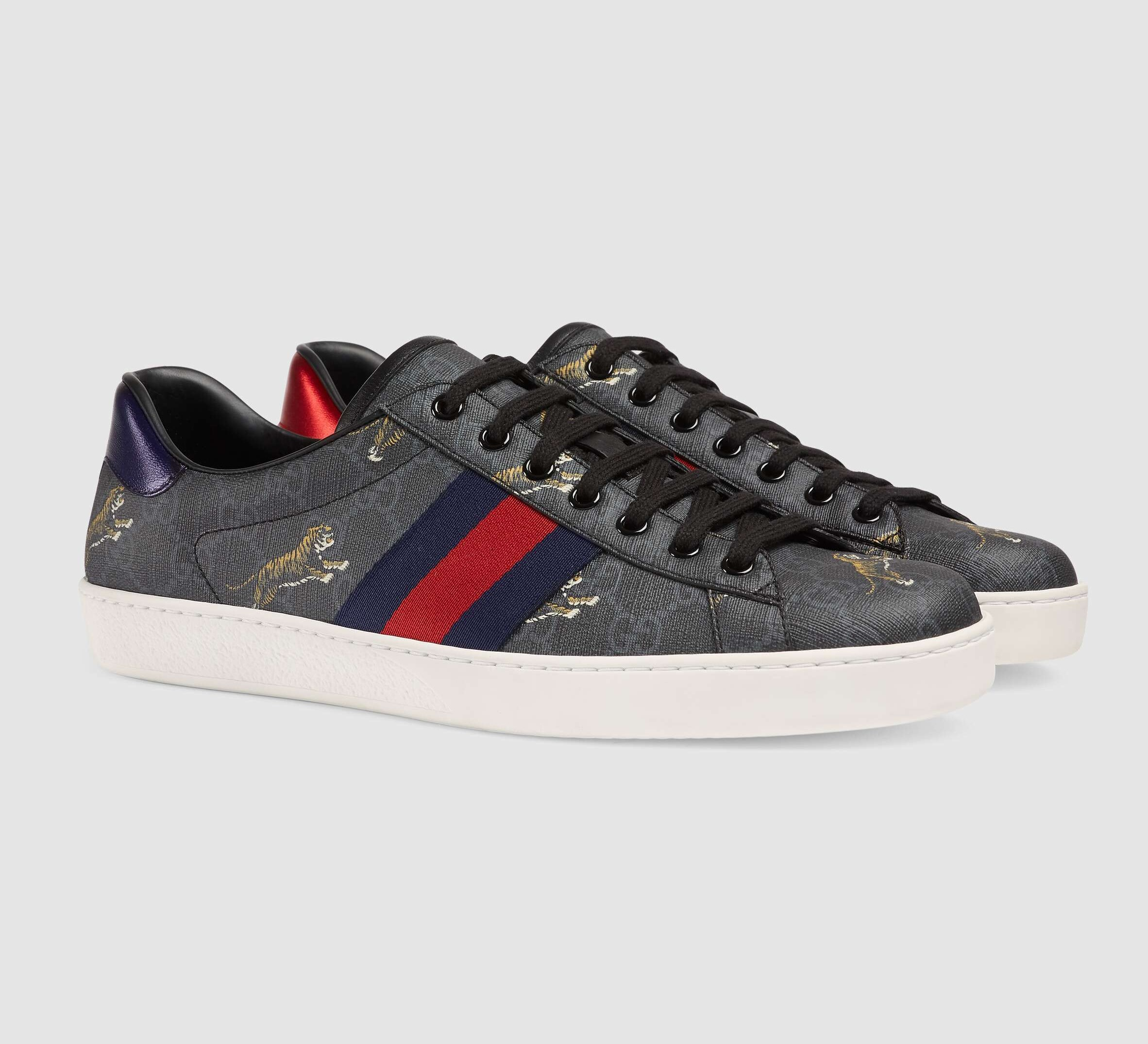 Gucci Ace GG Supreme Tigers Sneaker 429445 Black