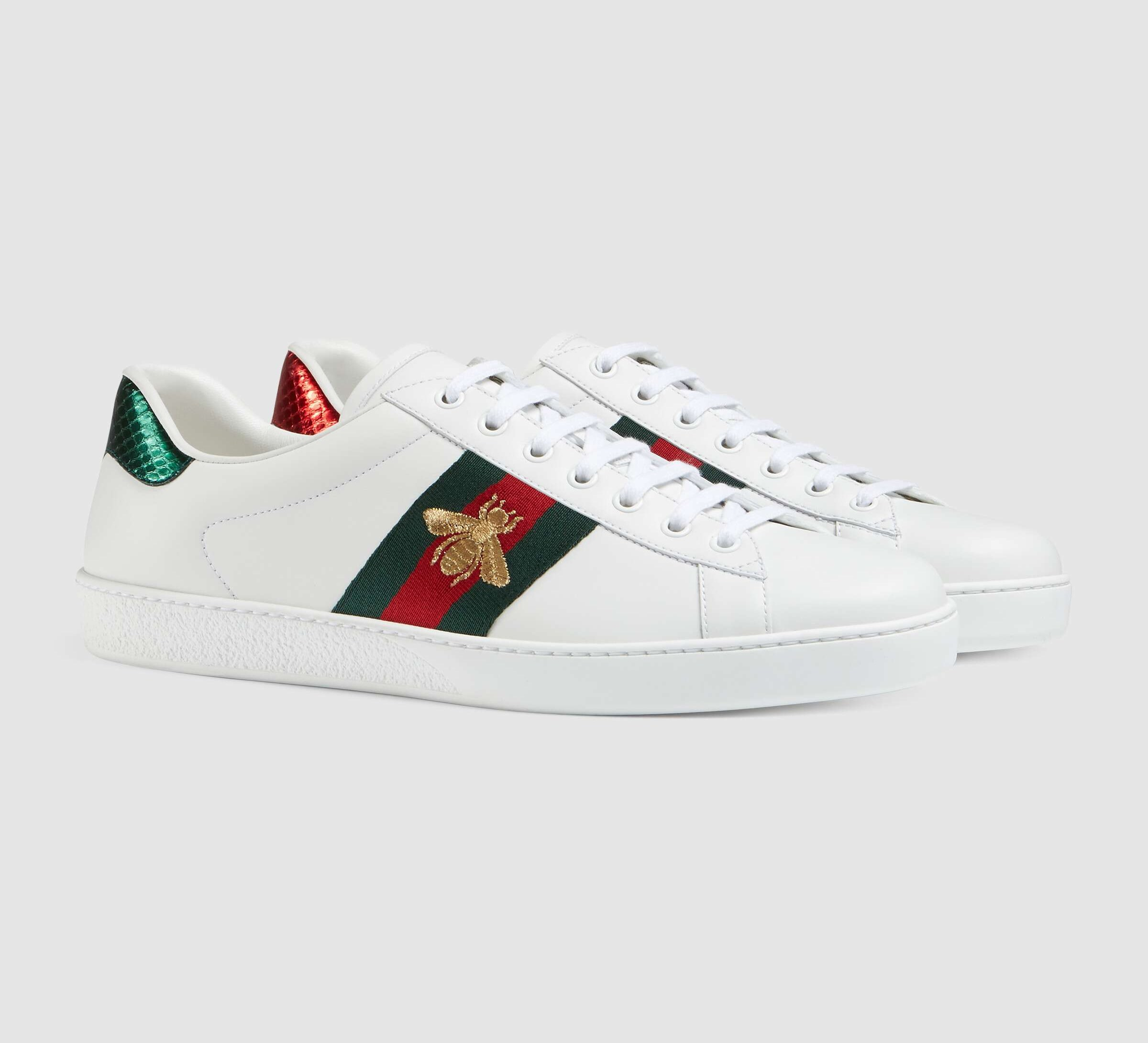 Gucci Ace Embroidered Sneaker 429446 White