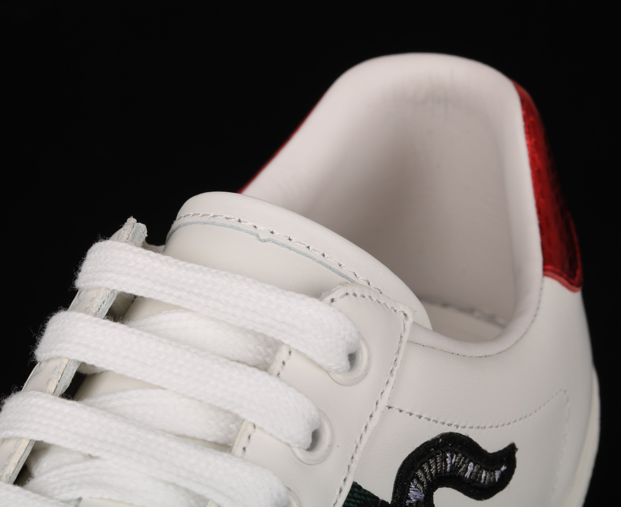 Gucci Ace Embroidered Sneaker 456230 White